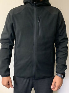 NEW-Reebok-Men-039-s-Mixed-Media-Softshell-Jacket-Black-Medium