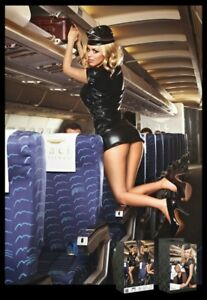 Black-stewardess-costume-with-gold-coloured-trimming-Baci-Dreams-1218-roleplay