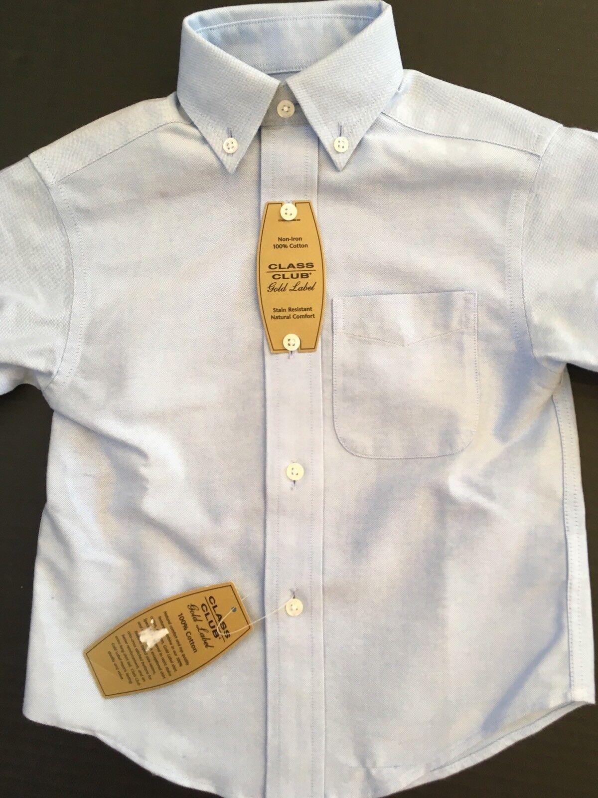 Class Club Blue Chambray Button Up Dress Shirt Long Sleeve Boys 2 2t