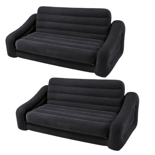 Pull Out Futon Sofa Couch Bed Dark