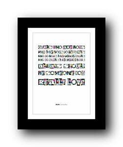BLUR Girls And Boys #2  ❤  song lyrics typography poster art print