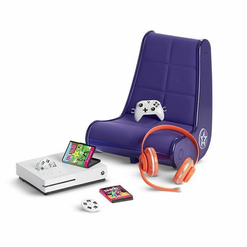 American Girl Doll Xbox Gaming Chair Set NEW