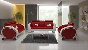 Canape-en-Cuir-3-1-Pad-Garniture-Coussin-Garniture-Garniture-Rembourrage
