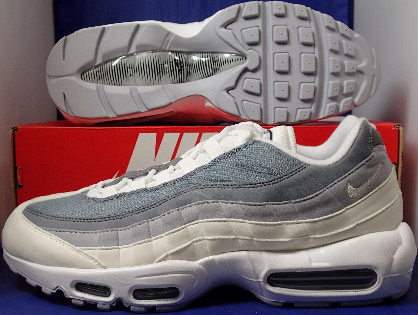 Nike Air Max 95 iD bianca 10.5 Grigio SZ 10.5 bianca ( 818592-993 ) 4099b1