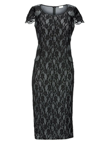 Kp 119,99 € argent couleurs Court Taille Neuf!! Mona pointes Robe Avec Contraste Doublure