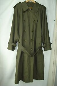 entire collection variety of designs and colors special section Details about 'BURBERRYS' OF LONDON OLIVE GREEN MEN'S LONG TRENCH COAT,  SIZE 40R