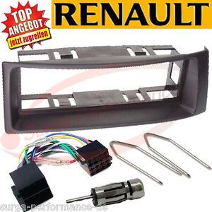 Renault-Megane-II-2-Escenico-Radioblende-Radio-Marco-Abertura-Cable-Adaptador