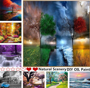 DIY-Paint-By-Number-Kit-Digital-Oil-Painting-Art-Natural-Scenery-Wall-Home-Decor