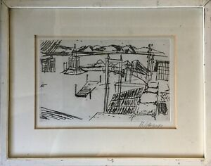 Etching-Adolf-Silver-Berger-1922-2005-Ulm-Industrial-Landscape-33-x-42