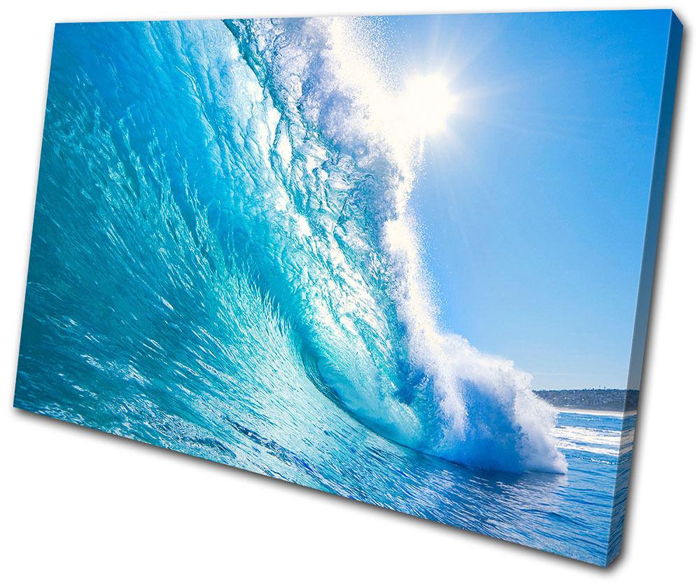 Sunset Seascape Wave SINGLE TELA parete arte foto stampa stampa stampa 72b206