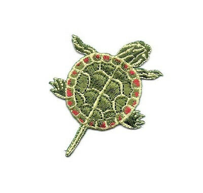 """Painted Turtle  2/"""" x 2-1//2/"""" iron on patch"""