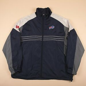 Vintage-REEBOK-NFL-BUFFALO-BULLS-Blue-Sports-Jacket-Men-039-s-XL-R26048
