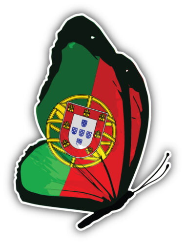 Portugal Flag Butterfly Car Bumper Sticker Decal 4/'/' x 5/'/'