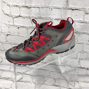 Merrel-Women-Red-And-Gray-Leather-Athletic-Hiking-Shoes-8