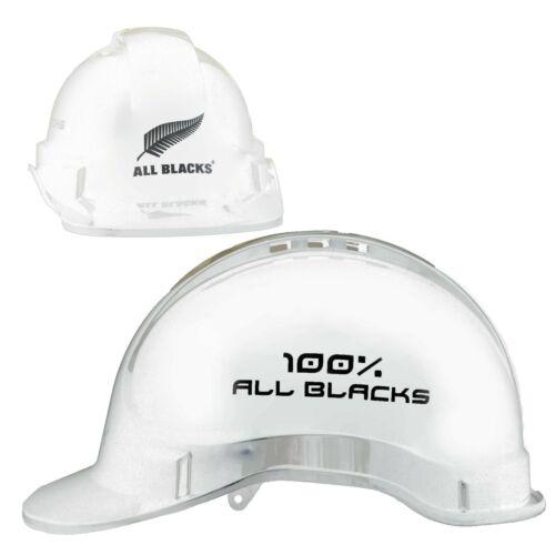 All Blacks NRL Light Weight Vented Safety Hard Hat Work Man Cave Gift WHITE