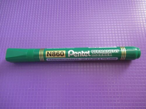 NEUF * Vert ou Rouge Pentel N860 permanent Chisel Tip Marqueur Stylo En Noir Bleu