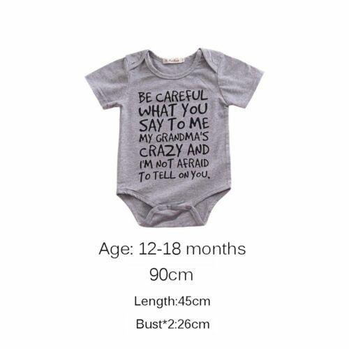 Outfits Clothes Sunsuit Letter Print Bodysuit Baby Romper Playsuit Boys Girls