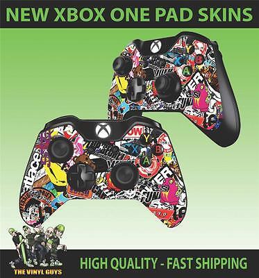 Video Game Accessories Conscientious Xbox One Controller Tappetino Adesivo Stickerbomb Grafiche Decalcomanie Skins X2