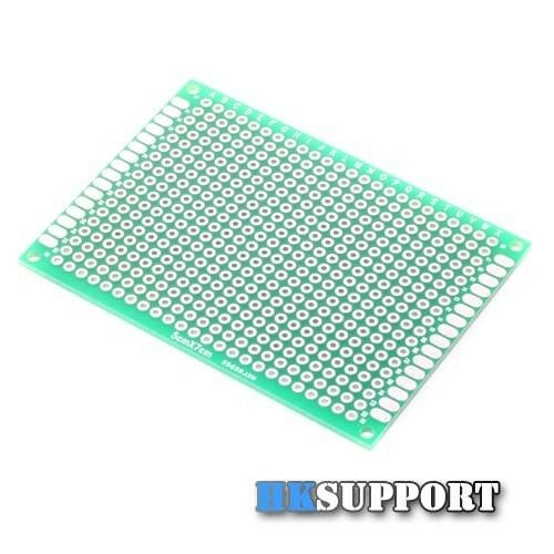 5x7cm Double Side Tinned Plated Thru-Hole SMD Circuit Prototype PCB Board x 2
