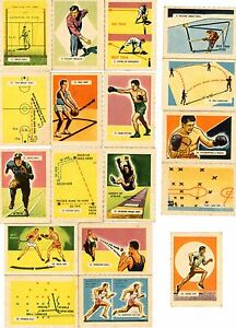 1950-LOT-of-18-trading-cards-KELLOGGS-ALL-WHEAT-Sport-Tips-Ace-Percival