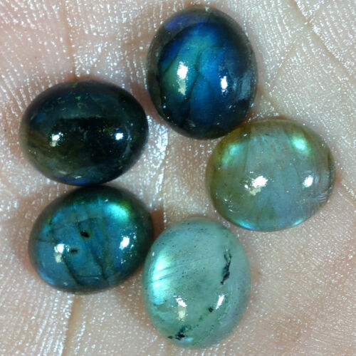 100/% Natural Oval Shape Fire Labradorite Cabochon Losse Gemstone MM Size Lot