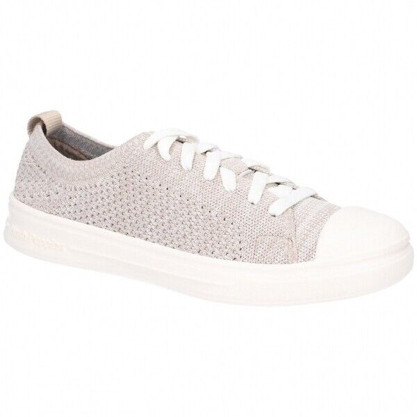 Hush Puppies SCHNOODLE LACEUP Ladies Womens Low Top Knitted Knitted Knitted Trainers Taupe bf16c4