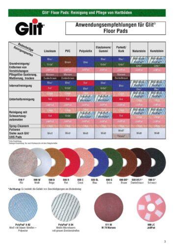 """Glit Floor Superpad Braun 15/"""" 381 mm Reinigungspad Pad Reinigung Maschinenpad"""