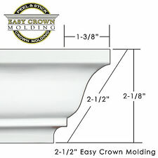 Peel & Stick Easy Crown Molding - X-Large room 85' Kit includes all corners-3M