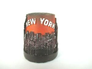 New York Fingerhut Thimble Aus Poly,skyline,empire,chrylser,freiheitsstatue Reiseaccessoires Reisen