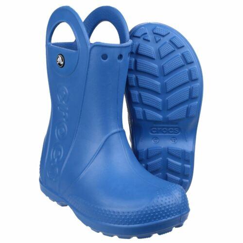 Crocs Handle It Rain Blue Childrens Wellingtons 100/% Thermoplastic