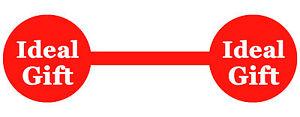 'ideales Geschenk' Schmuck Promotion Rot Preisaufkleber Etiketten Hantel Ausgereifte Technologien