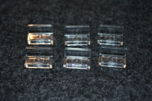 "6 1x2 Clear Translucent /""L/"" Tile Brick Lego Bricks"