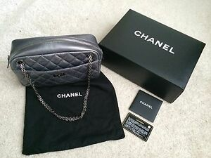 8950806b220f Authentic Chanel Classic 2.55 Reissue Quilted Silver Leather Camera ...