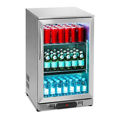 Kuhlschrank Mini Getrankekuhlschrank Flaschenkuhlschrank Glastur 108l Edelstahl Ebay