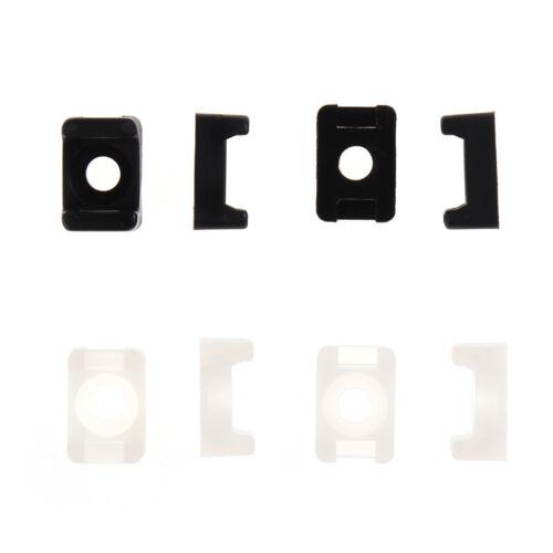 100Pc 4,6mm Breite Kabelbinder Basis Sattel Typ Montieren Kabelhalter  ^