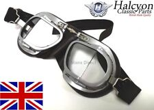 2640b9471d1 Hand Made Halcyon Mark 9 Superjet Driving   Riding   Flying Goggles In Brown