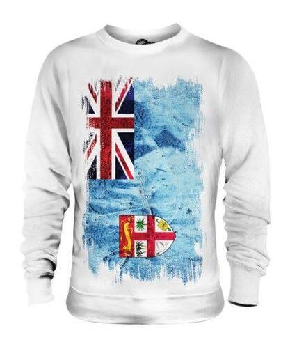 Fiji Drapeau Grunge Unisexe Pull Viti Football Fijian Cadeau T-Shirt