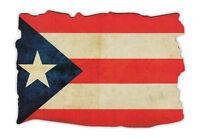 Magnetic Bumper Sticker - Puerto Rico Flag (weathered Look) - Puerto Rican Pride