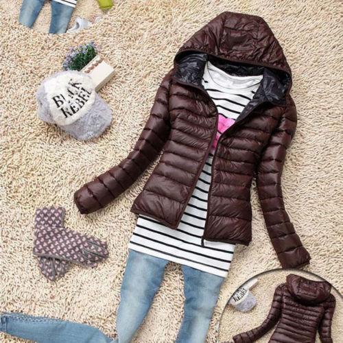 US NEW Women/'s Short Coat Hooded Coat Parka Jacket Winter Warm Outwear GIFT