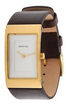 BERING Damen Armbanduhr dunkelbraun EB10222-534