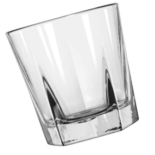 Double Old Fashioned Rocks Whiskey Scotch Glasses 12 oz -Set of 4-Heavy Base ...