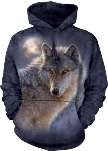 The Mountain Unisex Adult Adventure Wolf Wolves Hoodie