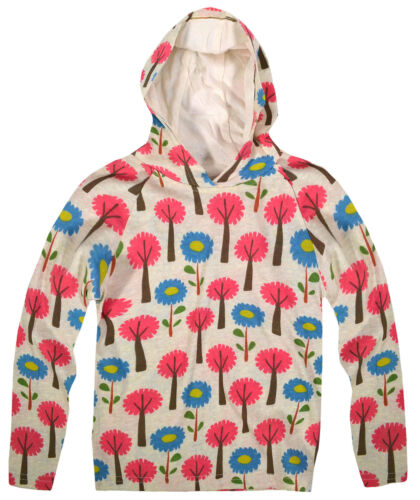 2 Yr Girls Vibrant Floral Baby Hooded Top New Kids 100/% Cotton Pullover 1.5 Yr