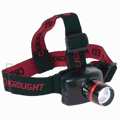 LED Bright Head Lamp Flash Light Zoom Focus Strap