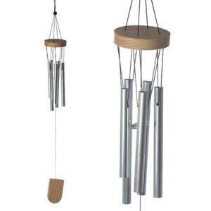 37 cm En bois Wind Chime avec cylindres métalliques