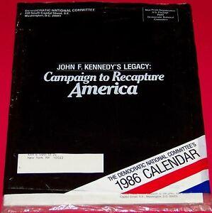 1982 Democratic National Committee's JFK Legacy Calendar to Recapture America