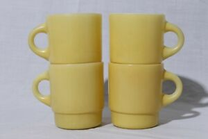 Anchor-Hocking-Fire-King-Stackable-Mug-Made-in-USA-Set-of-4