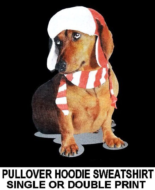 CUTE LOVABLE CHRISTMAS HOLIDAY HAT SWEATSHIRT DACHSHUND FUNNY DOG HOODIE SWEATSHIRT HAT 703 207d42