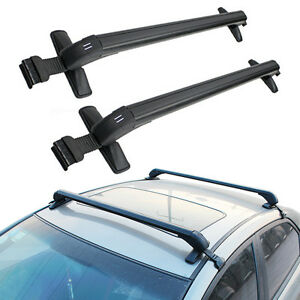 Universal Cars Black Anti Theft Car Roof Bars Without