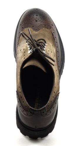 Scarpe Casual Bufalo Italy Inglese Allacciate In Uomo Stile 45 N Pelle M Taupe 1CrTwH1q
